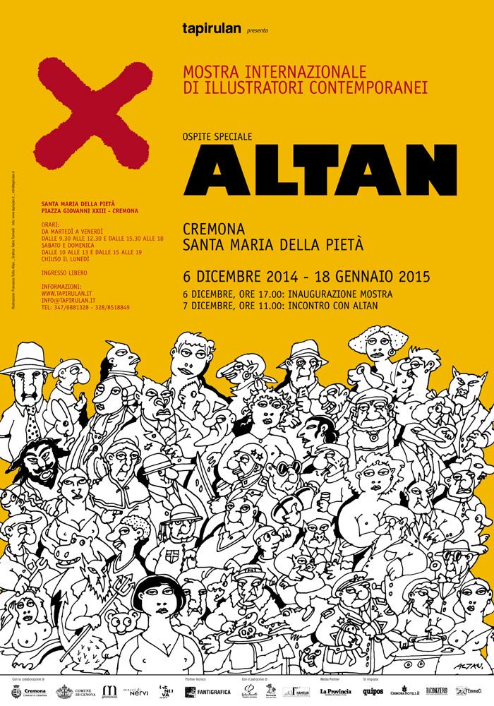 X - Manifesto con illustrazione realizzata da Altan