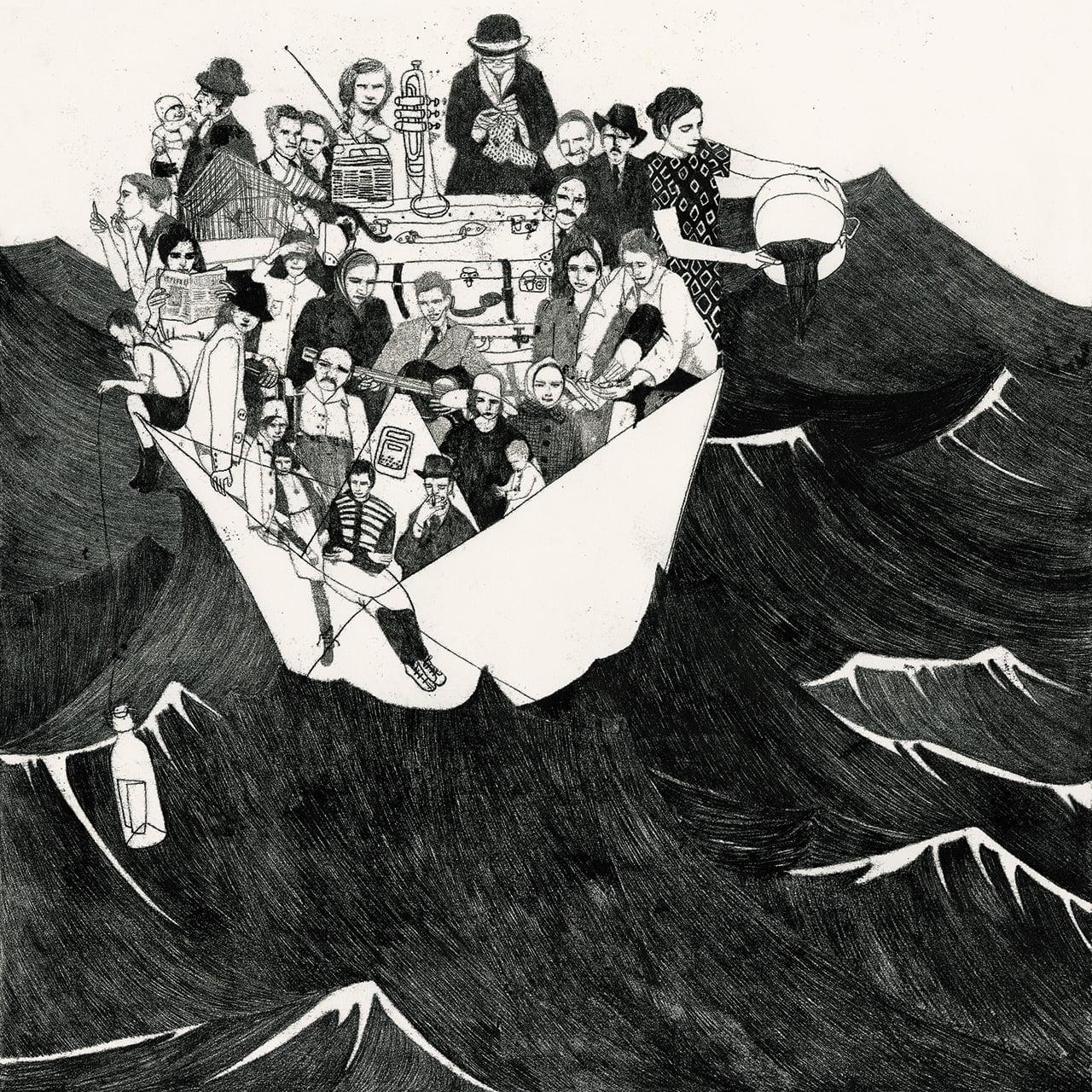Coûte que coûte - Illustrazione di Sylvie Bello per la mostra SOS (opera vincitrice del Premio della Critica)