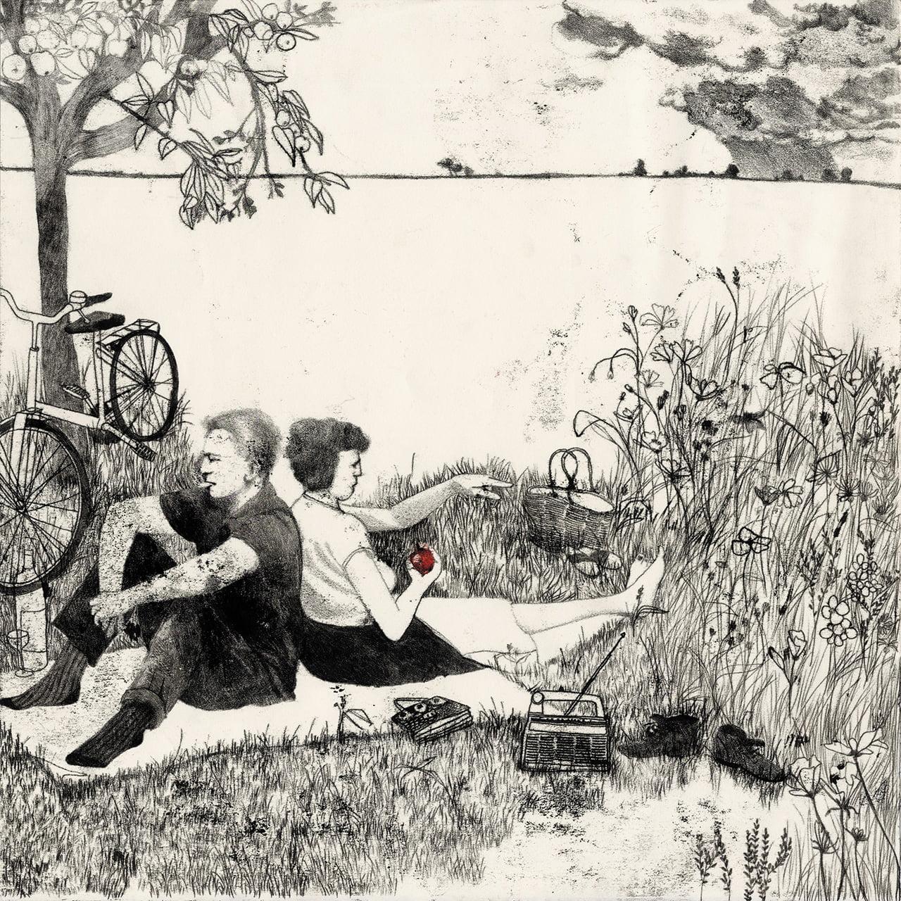 D'amour et d'eau fraiche - Illustrazione di Sylvie Bello per la mostra Eden