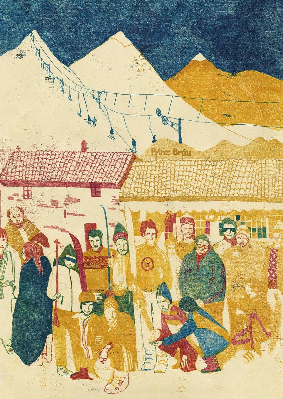 Millepini - Illustrazione di Sylvie Bello per la guida di Salsomaggiore Terme