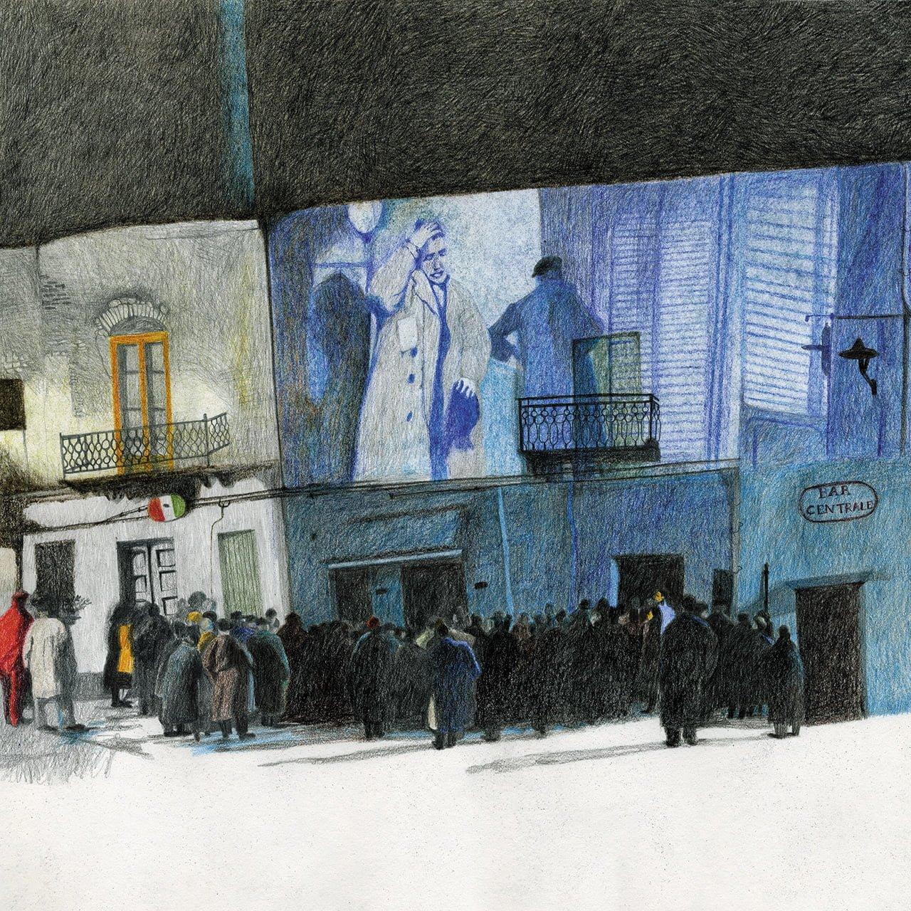 Nuovo Cinema Paradiso - Illustrazione di Sylvie Bello