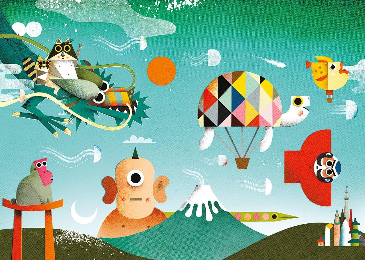 Tokyo winter season - Illustrazione di Philip Giordano