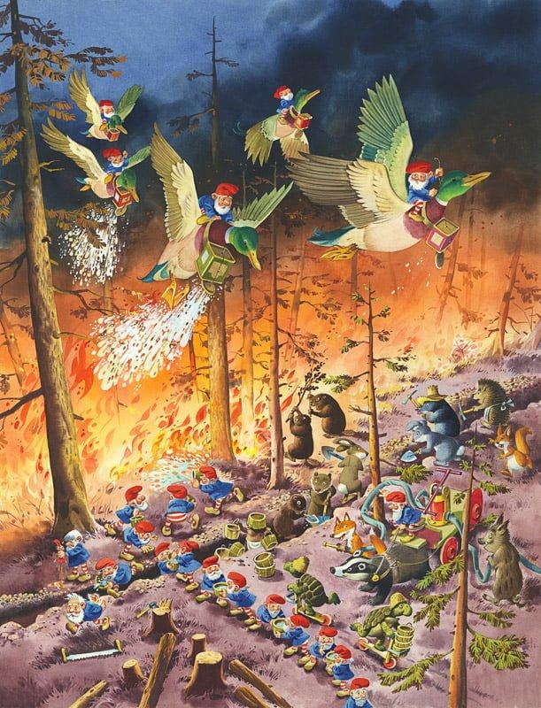 Tony Wolf - La foresta in fiamme