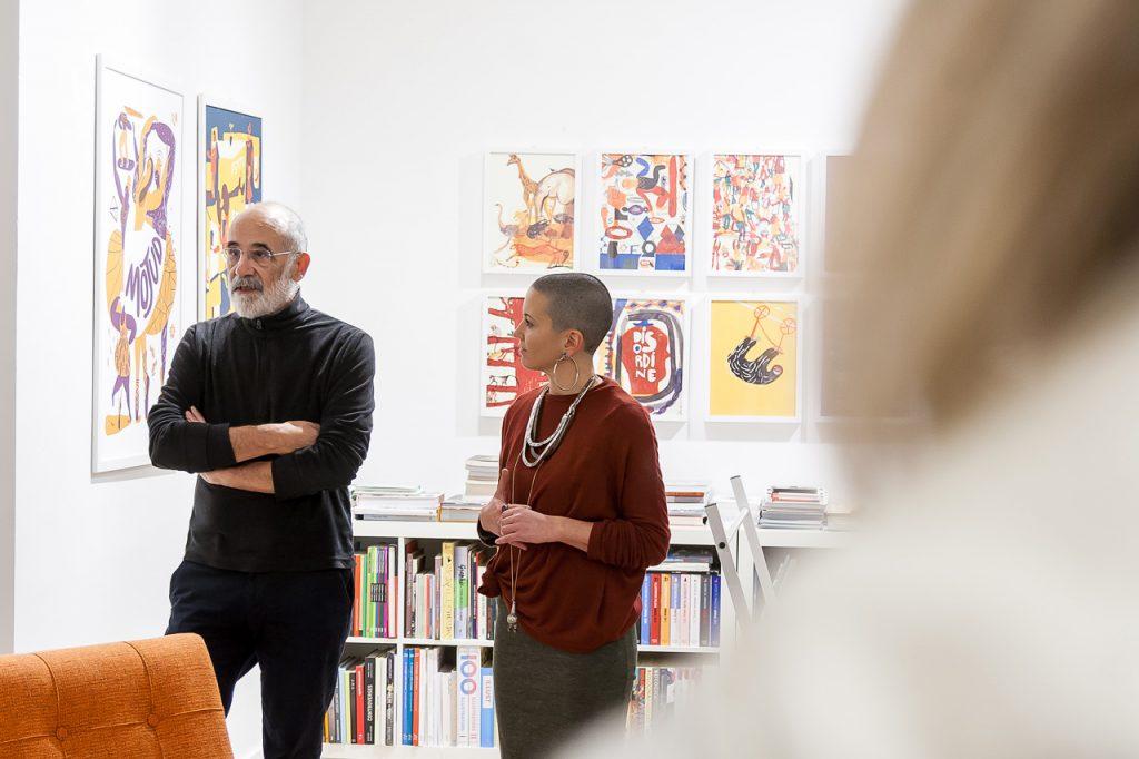 Guido Scarabottolo presenta la mostra Disordine di Giulia Pastorino