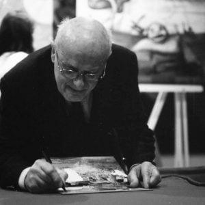 Tony Wolf firma autografi dopo la premiazione della seconda edizione del concorso di illustratori Tapirulan (15 aprile 2007)