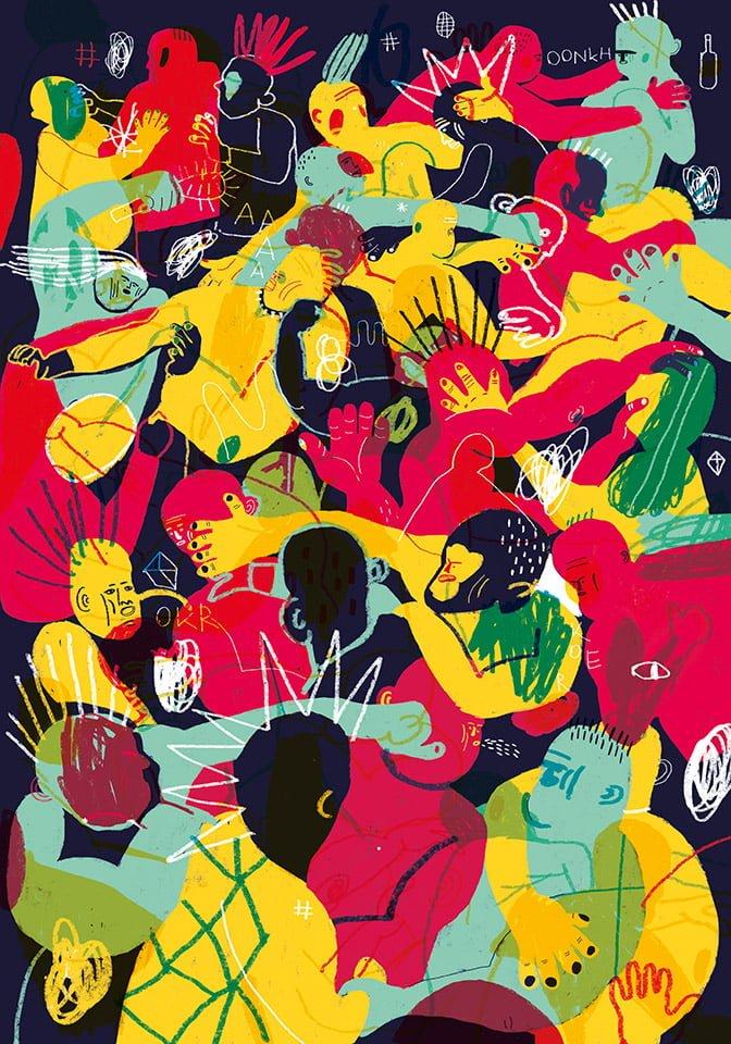 ChiuFESTIVAL - Illustrazione di Giulia Pastorino