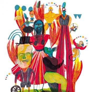 Il circo 01 - Illustrazione di Giulia Pastorino