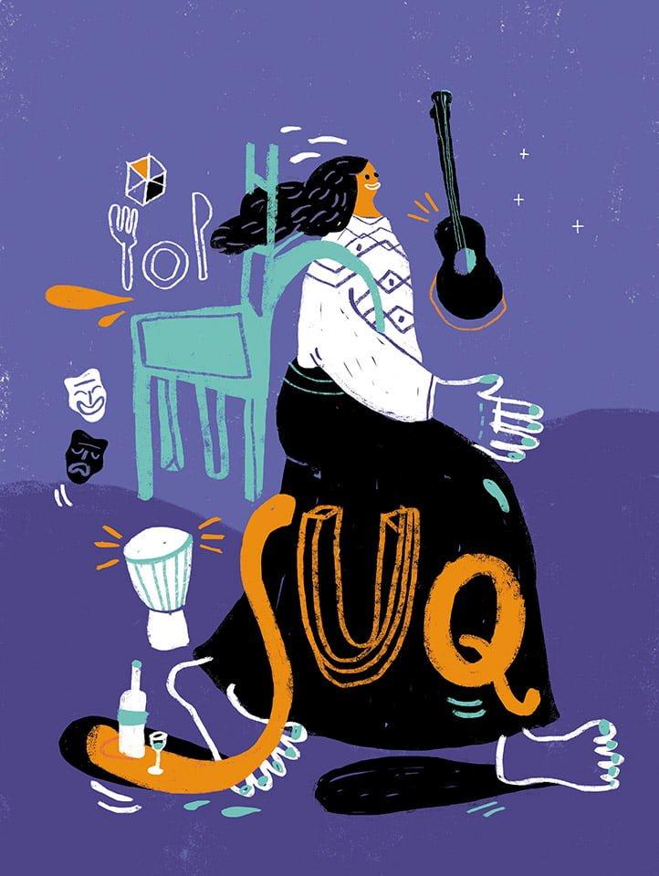 Il viaggio e la sosta - Illustrazione di Giulia Pastorino