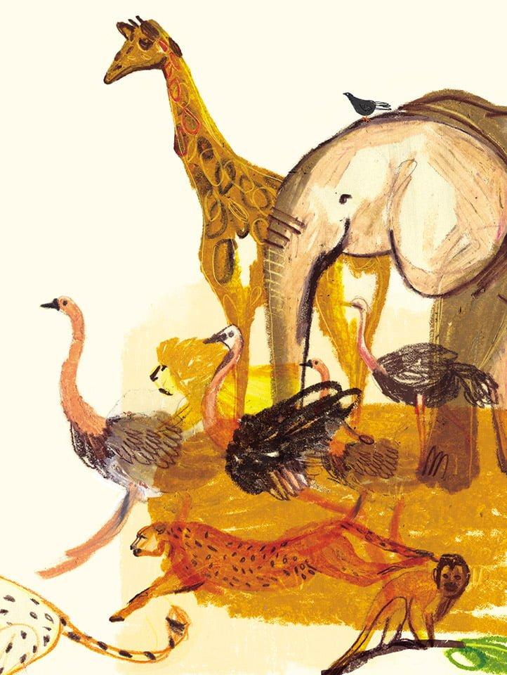 La piazza 03 - Illustrazione di Giulia Pastorino