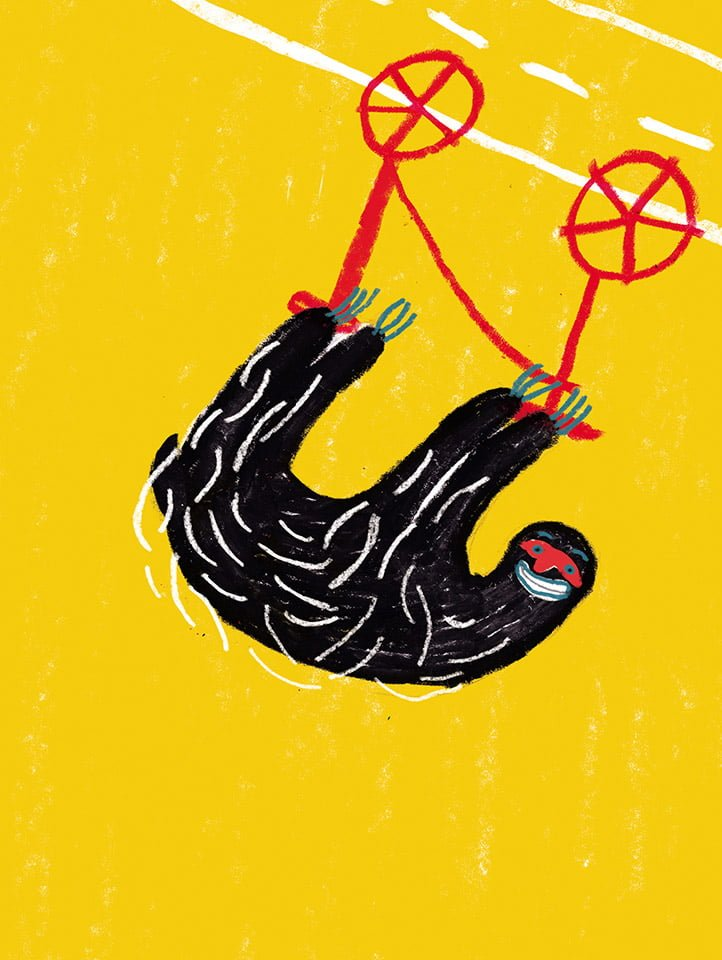 Lui che pigro non è 01 - Illustrazione di Giulia Pastorino