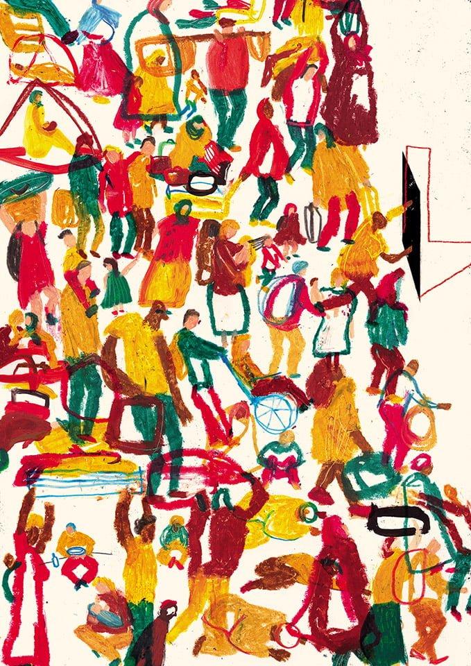Movimento - Illustrazione di Giulia Pastorino