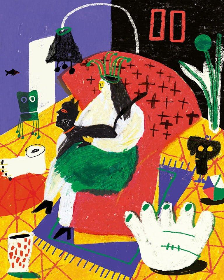 Stanze 01 - Illustrazione di Giulia Pastorino