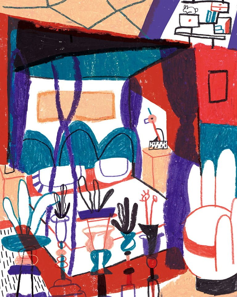 Stanze 03 - Illustrazione di Giulia Pastorino