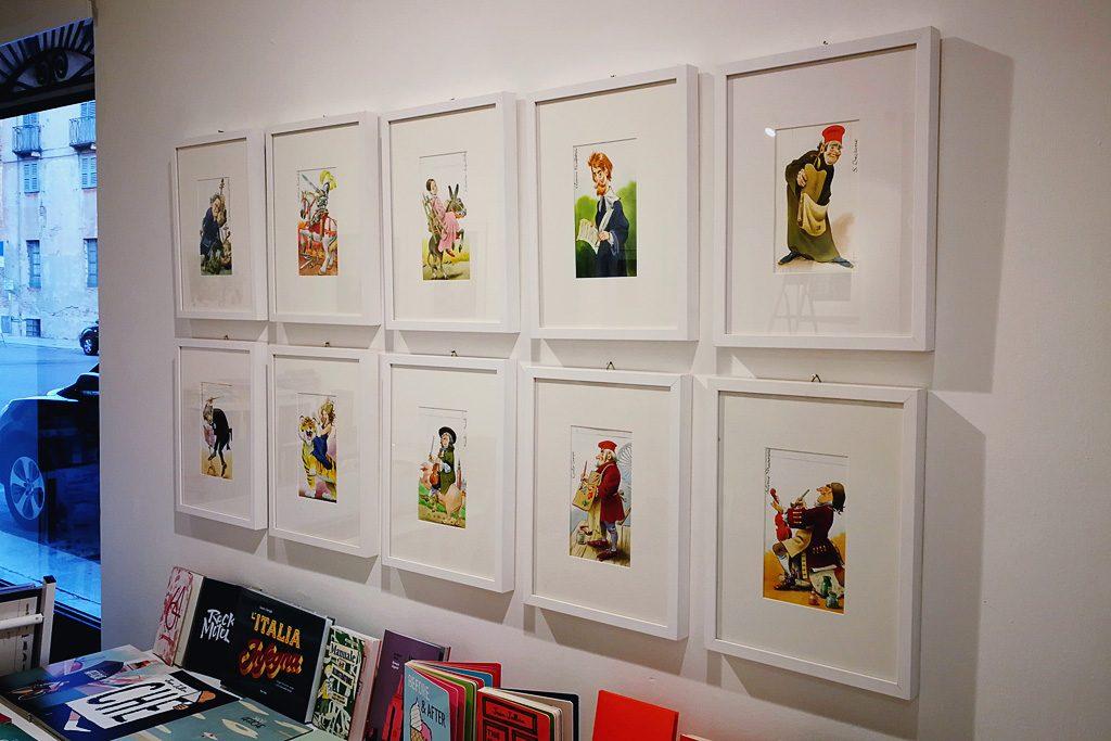 Le illustrazioni per le carte da briscola cremonesi realizzate da Tony Wolf in mostra presso lo Spazio Tapirulan