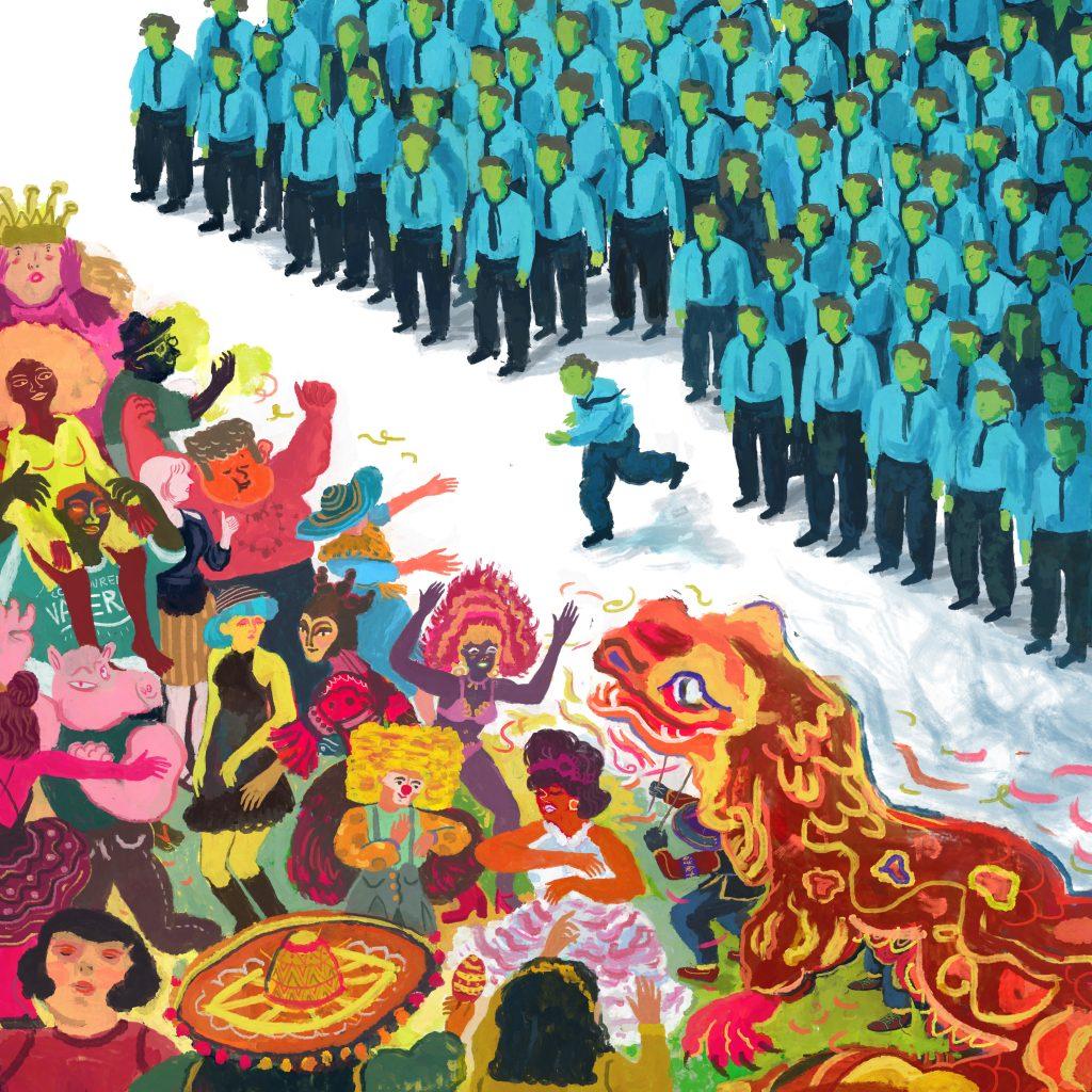 Beato il caos - Illustrazione di Giulia Canala (Pubblicata sul Calendario 2019)