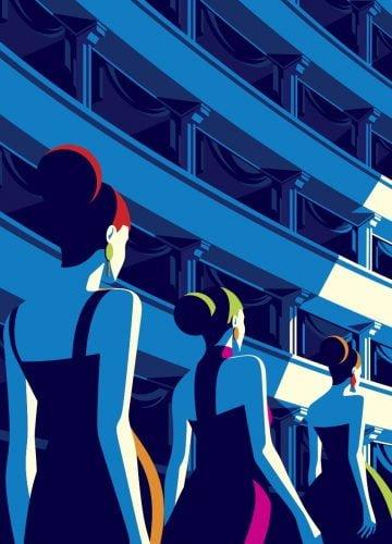 Fashionweek - Illustrazione di Malika Favre