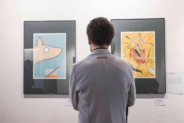 Inaugurazione della mostra Drawjob allo Studio d'arte Andromeda di Trento