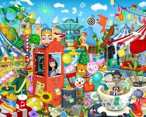 Illutrazione di Elena Prette per il gioco in scatola Kaleidos