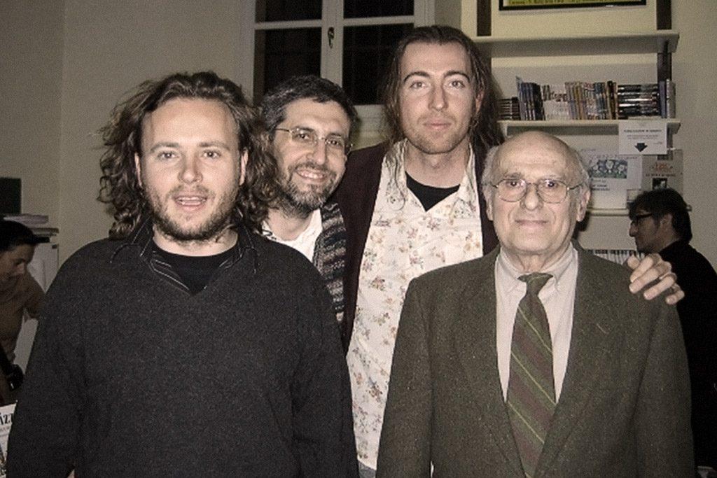 Zino, Andrea Fenti, French e Tony Wolf alla presentazione del Calendario 2007 al Centro Fumetto Andrea Pazienza (Cremona)