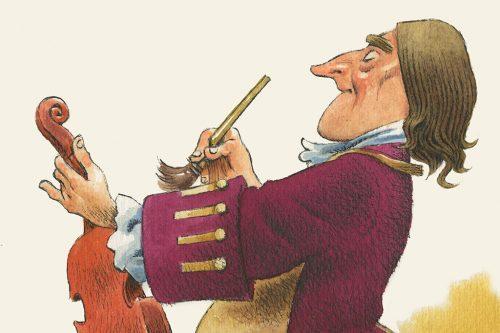 Antonio Stradivari - Illustrazione di Tony Wolf (particolare)