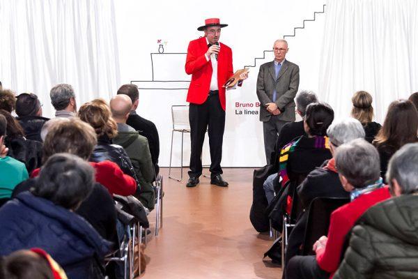 Inaugurazione mostra Super con Bruno Bozzetto